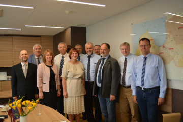 The German delegation visit